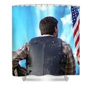 Bull Rider Shower Curtain