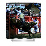 Bull Riding At The Grand National Rodeo Shower Curtain