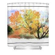 Bull Run Autumn Shower Curtain
