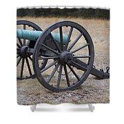 Bull Run Green Cannon In Field Shower Curtain