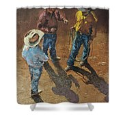 Bull Session Shower Curtain