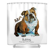 Bulldog Pop Art Shower Curtain
