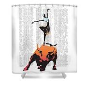 Bullerina Shower Curtain