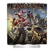 Bulletstorm Shower Curtain