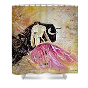 Bullfight 74 Shower Curtain