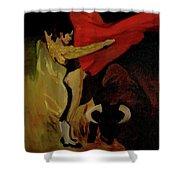 Bullfighter By Mary Krupa Shower Curtain