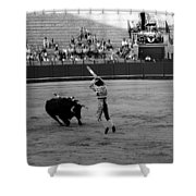 Bullfighting 36b Shower Curtain
