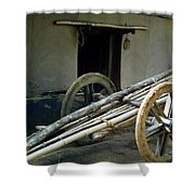 Bullock Cart Shower Curtain