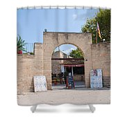 Bullring Entrance In Alcudia Shower Curtain