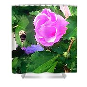 Bumble Bee Flying Away  Shower Curtain