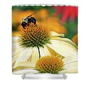 Bumble Bee On Top Shower Curtain