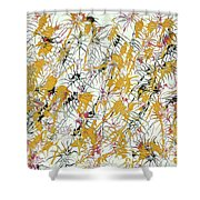 Bumble Bees Against The Windshield - V1sd92 Shower Curtain