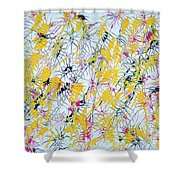 Bumble Bees Against The Windshield - V1vc100 Shower Curtain