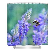 Bumblebee And Lupine Shower Curtain