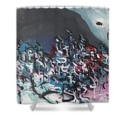 Bummer Flat7 Shower Curtain
