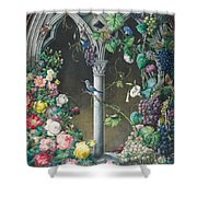 Bunches Of Roses Ipomoea And Grapevines Shower Curtain