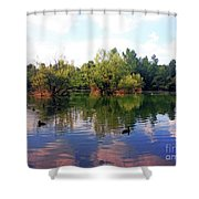 Bundek Park Zagreb Shower Curtain