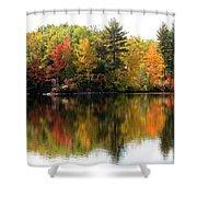 Bunganut Lake Maine Foliage 10 2016 Shower Curtain