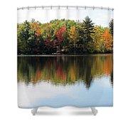 Bunganut Lake Maine Foliage 11 2016 Shower Curtain