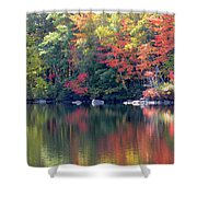 Bunganut Lake Maine Foliage 13 2016 Shower Curtain
