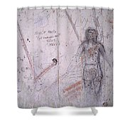 Bunker Graffiti Shower Curtain