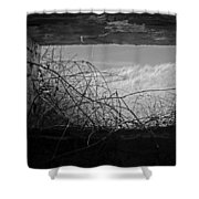 Bunker View Shower Curtain