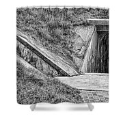 Bunkers At Foort Pulasi Shower Curtain