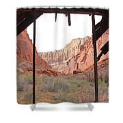 Bunkhouse View 2 Shower Curtain
