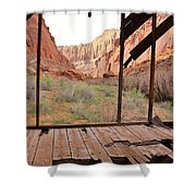 Bunkhouse View 3 Shower Curtain