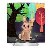 Bunny And Birdie Shower Curtain