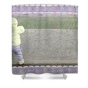Bunny Hops Away Shower Curtain