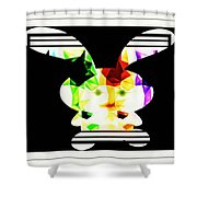 Bunny In Abstract Shower Curtain