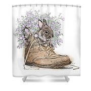 Bunny In Boot Shower Curtain