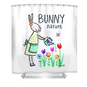 Bunny Nature Shower Curtain