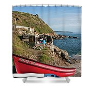 Bunty In Priest's Cove Cape Cornwall Shower Curtain