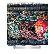Buoy And Ropes Shower Curtain