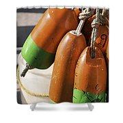 Buoys 1 Shower Curtain
