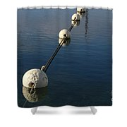 Buoys In Aligtnment Shower Curtain