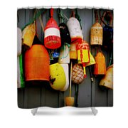 The Sea Wall Shower Curtain