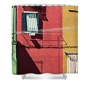 Burano Facade Shower Curtain