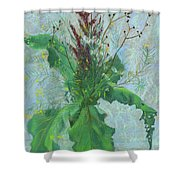 Burdock Leaves  Shower Curtain
