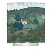 Burford Farm, Devon, 1918 Shower Curtain