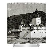 Burg Pfalzgrafenstein Aged Shower Curtain