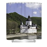 Burg Pfalzgrafenstein Squared Shower Curtain