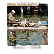 Burgazada Island Fisherman Shower Curtain