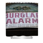 Burglar Alarm Shower Curtain