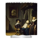 Burgomaster Hasselaar And His Wife Shower Curtain