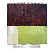 Burgundy Cream Pickle Shower Curtain by Michelle Calkins