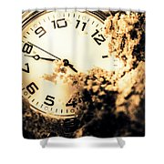 Buried By The Hands Of Time Shower Curtain