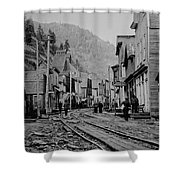 Burke Idaho Ghost Town In Its Prime Shower Curtain